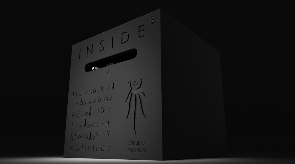 Le cube CTHULHU PHANTOM. Il ne s'ouvre pas. Le plan est codé. Dans sa demeure de R'lyeh, Cthulhu vous attend...